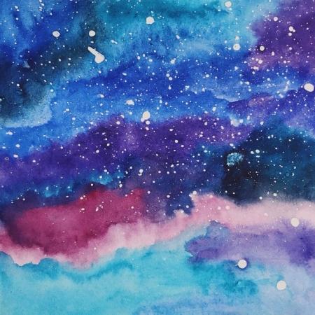 Мастер-класс «Рисуем космос дома»