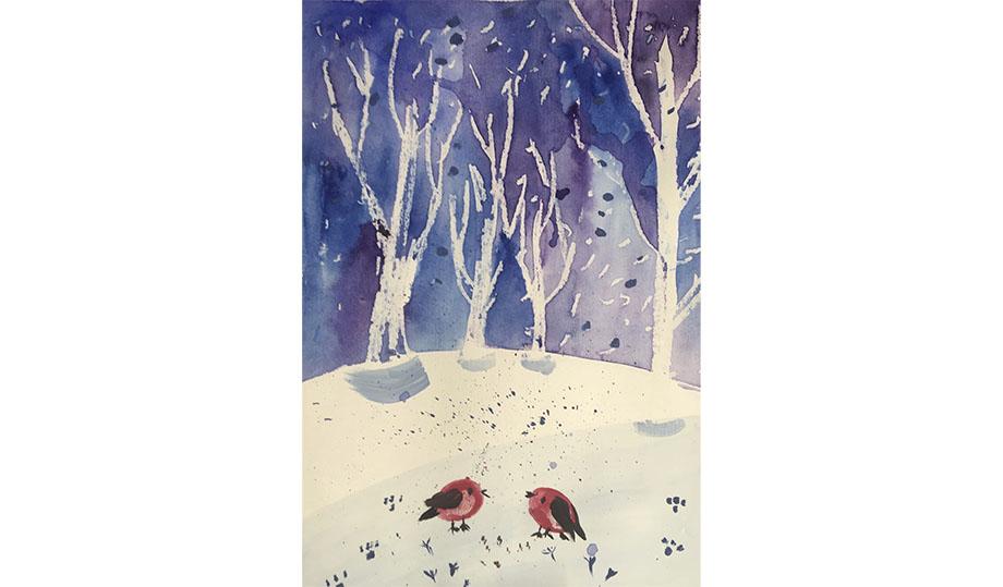 Мастер-класс «Зимний пейзаж»