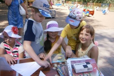 Библиодворик на Воронежских озёрах