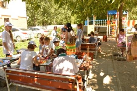Детский праздник в Библиодворике