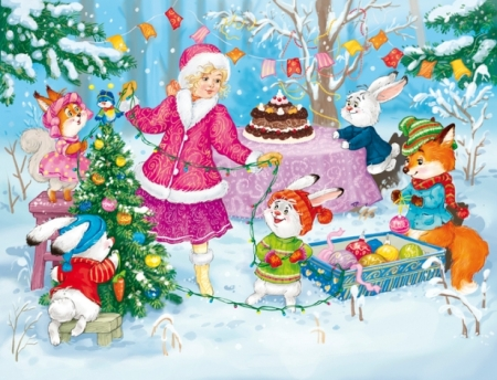 Новогодний праздник «С зайчишкой наперегонки»